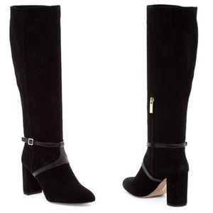 Louise et Cie Somerra Black Suede Block Heel Boots
